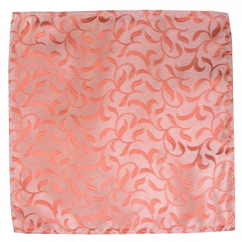 Coral Vintage Vine Wedding Pocket Square #AB-TPH1004/2
