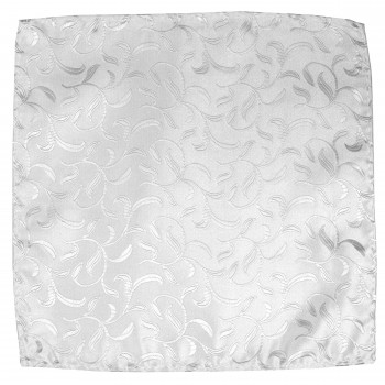 Silver Vintage Vine Wedding Pocket Square #AB-TPH1004/5