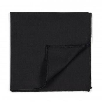 Black 100% Wool Tuxedo Pocket Square
