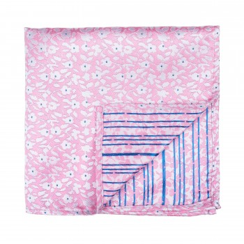 Pink Ditsy Floral Pocket Square