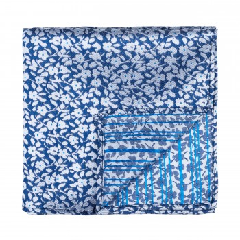 Navy Blue Ditsy Floral Pocket Square