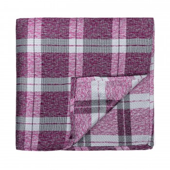 Burgundy Wide Check Pocket Square