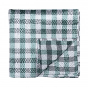 Moss Green Neat Check Pocket Square