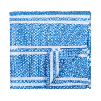 Baby Blue Pastel Stripe Pocket Square