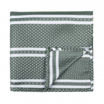 Green Pastel Stripe Pocket Square