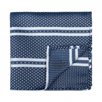 Navy Blue Pastel Stripe Pocket Square
