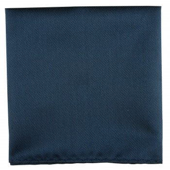 Midnight Blue Twill Pocket Square #TPH102/2