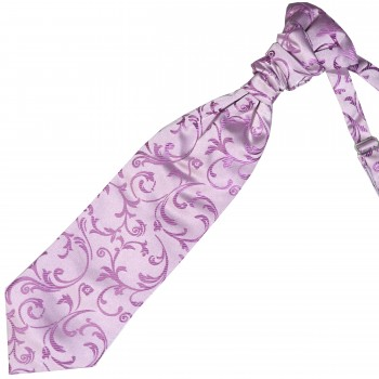 Lilac Swirl Leaf Wedding Cravat #AB-WCR1000/8