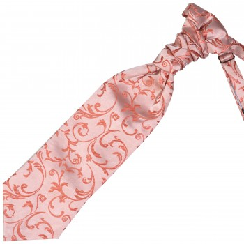 Coral Swirl Leaf Wedding Cravat #AB-WCR1000/9
