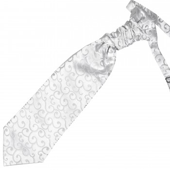 Silver Royal Swirl Wedding Cravat #AB-WCR1001/5
