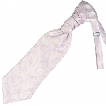 Lilac Modern Scroll Wedding Cravat #AB-WCR1002/1