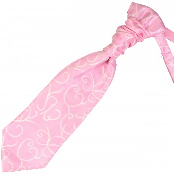 Light Pink Modern Scroll Wedding Cravat #AB-WCR1002/3