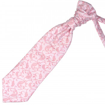 Coral Budding Paisley Wedding Cravat #AB-WCR1003/1