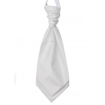 White Shantung Wedding Wedding Cravat (Boys Size) #YCR1864/2
