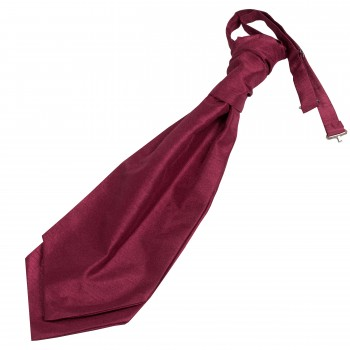 Wine Shantung Wedding Wedding Cravat (Boys Size) #YCR1864/4