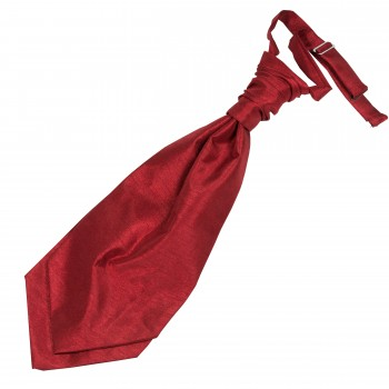 Red Shantung Wedding Wedding Cravat (Boys Size) #YCR1865/3