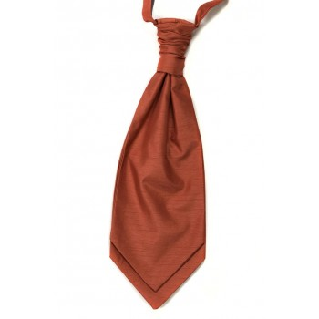 Salmon Pink Shantung Wedding Wedding Cravat (Boys Size) #YCR1865/4