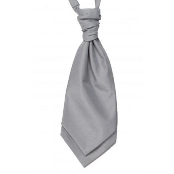 Silver Shantung Wedding Wedding Cravat (Boys Size) #YCR1866/2