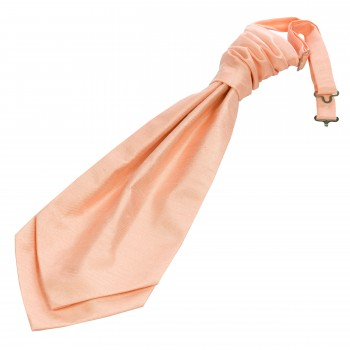 Peach Shantung Wedding Cravat (Boys Size) #YCR1867A/1