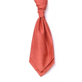 Coral Shantung Wedding Cravat #WCR1867A/5