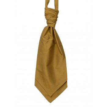 Gold Silk Shantung Wedding Cravat ((WCR5015/6)) #LAST STOCK
