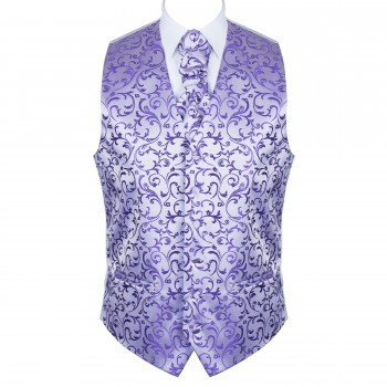 Purple Swirl Leaf Wedding Waistcoat #AB-WW1000/19