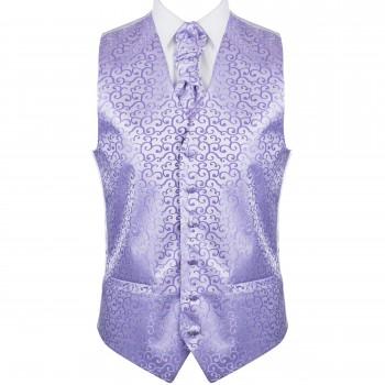 Lilac Royal Swirl Wedding Waistcoat #AB-WW1001/1