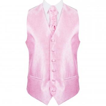 Pink Budding Paisley Wedding Waistcoat #AB-WW1003/2