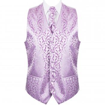 Lilac Vintage Vine Formal Waistcoat #AB-WW1004/1