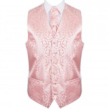 Peach Vintage Vine Formal Waistcoat #AB-WW1004/3