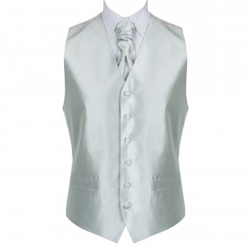 Silver Birch Shantung Wedding Waistcoat #AB-WW1005/3