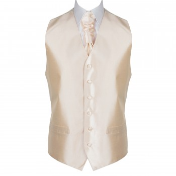 Butter Cream Shantung Wedding Waistcoat #AB-WW1005/4