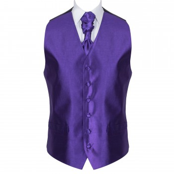 Plum Purple Shantung Wedding Waistcoat #AB-WW1005/8