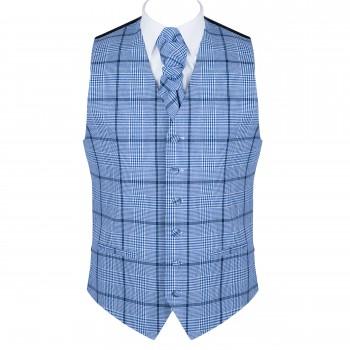 Regatta Blue Check Waistcoat #AB-WW1007/2