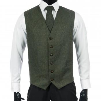 Blue Flecked Tweed Waistcoat #W106/2