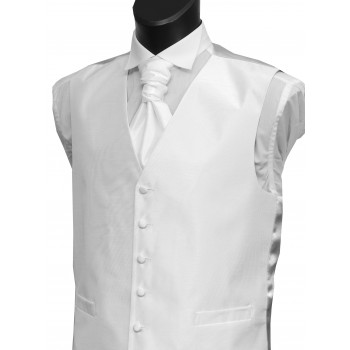 White Shantung Wedding Waistcoat #WW1864/2