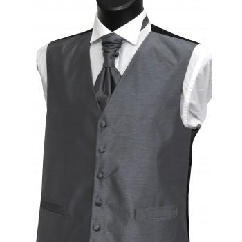 Grey Shantung Wedding Waistcoat #WW1865/1