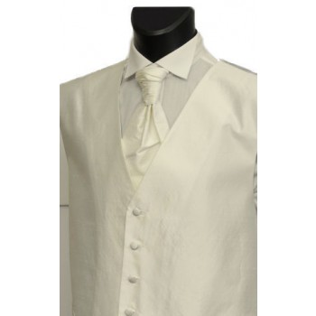 Ivory Shantung Wedding Waistcoat #WW1867/1