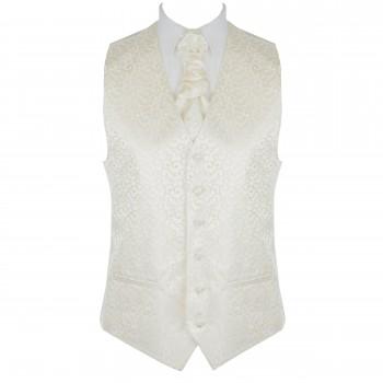 Cream Royal Swirl Waistcoat #AB-WWA1001/7