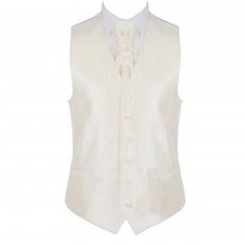 Cream Budding Paisley Waistcoat #AB-WWA1003/9