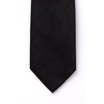 Black Shantung Boys Wedding Tie #Y1864/1
