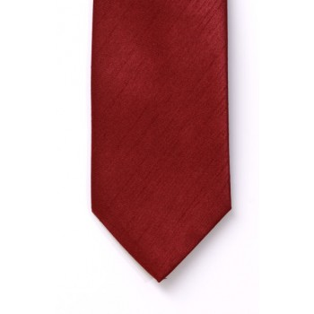 Boys Red Shantung Wedding Tie #Y1865/3