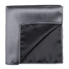 Dark Grey Shantung Pocket Square #AB-TPH1005/9