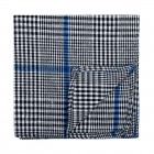 Licorice Black Check Pocket Square #AB-TPH1007/1
