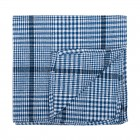 Regatta Blue Check Pocket Square #AB-TPH1007/2