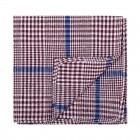 Burgundy Check Pocket Square #AB-TPH1007/3