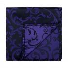 Purple on Black Swirl Leaf Pocket Square #AB-TPH1000/14