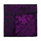 Plum on Black Swirl Leaf Pocket Square #AB-TPH1000/16