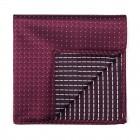 Burgundy Fine Polka Dot Pocket Square #AB-TPH1017/4