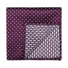 Wine Polka Dot Pocket Square #AB-TPH1018/3